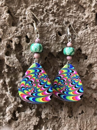 guitar-pick-Psychedelic-Earrings