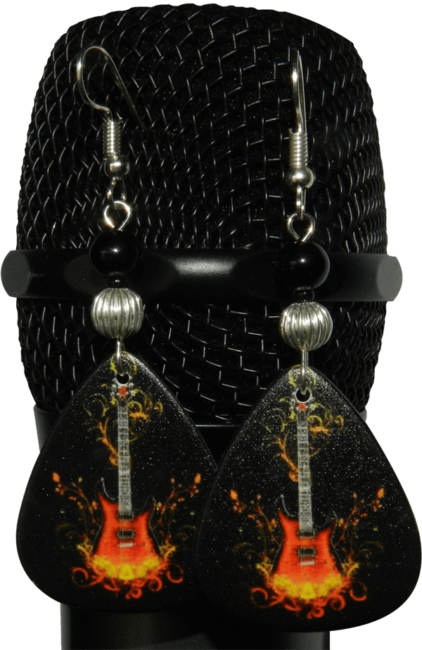 fire-guitar-pick-earrings